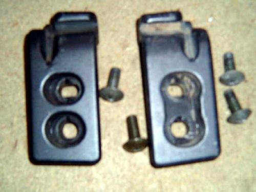 Hardtop side fitting brackets / striker plates, pair, Mazda MX-5, USED